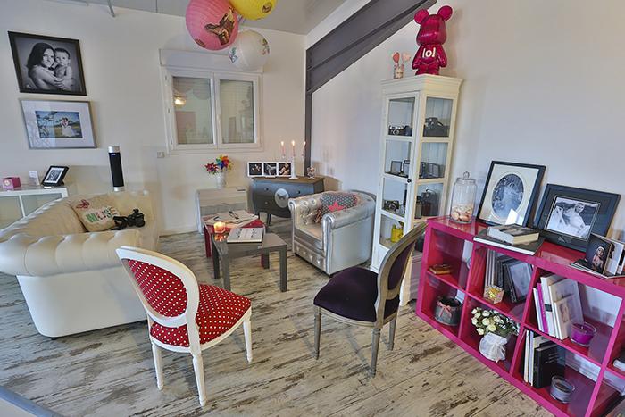 Studio photo en corse - rose et gris