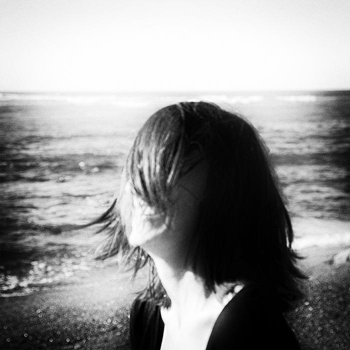 portrait de femme - noir et blanc