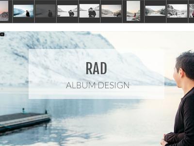 Design d'album photos simple et rapide avec RAD.