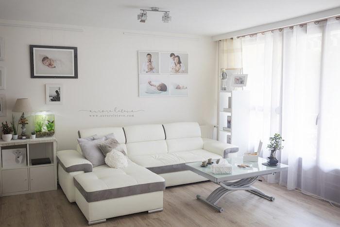 Le studio photo d'Aurore Létévé, photographe spécialiste naissance et maternité à Lyon. Un studio photo à domicile alliant douceur et élégance.
