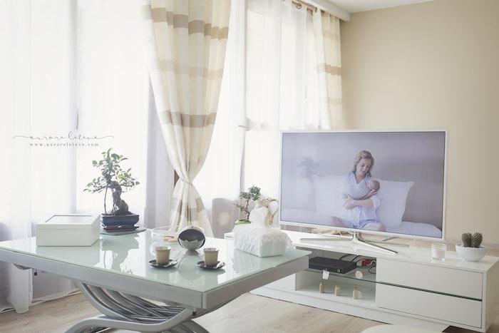 Le Home Studio Photo d'Aurore : l'espace de visualisation des images après séance.