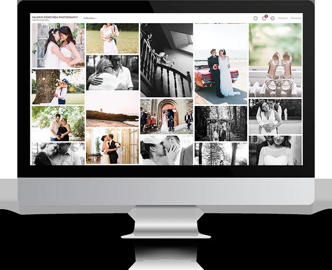 Exemple de galerie en ligne Lumys, sur un iMac.