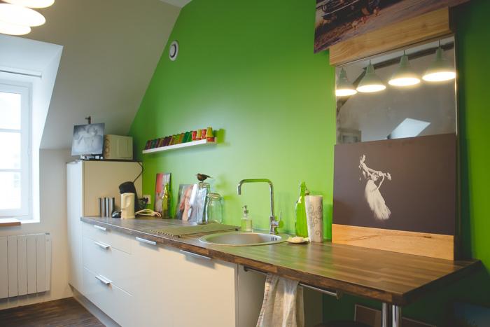La cuisine du studio-photo de Patrice Dorizon