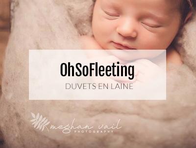 duvet en laine pour les nouveau-nés. Idéal pour les photographe qui ratiquent le baby posing.