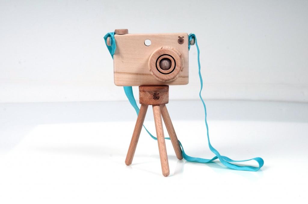appareil photo en bois - décoration