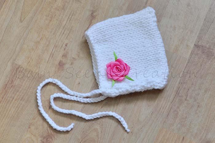 DIY tricot : bonnet pixie pour nouveau-né