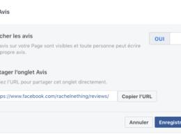 Comment activer les avis sur Facebook ?