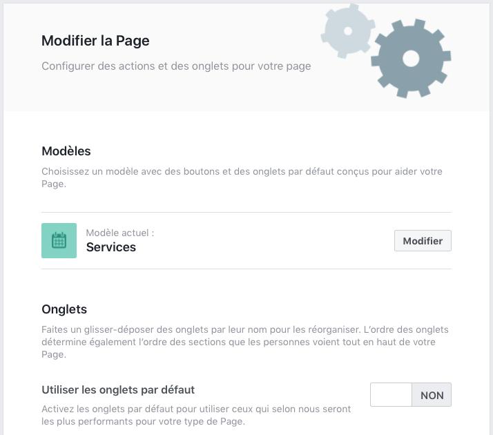 Pour afficher les avis sur sa page Facebook, il faut activer l'onglet en choisissant le bon modèle de page, ou en le modifiant.