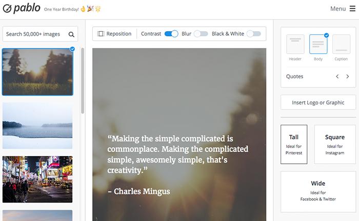 Pablo : solution pour créer des images adaptées à Pinterest