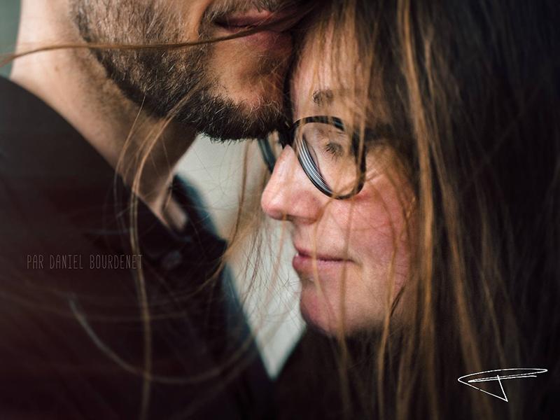 Portrait de couple amoureux. Close-up. Par Daniel Bourdenet