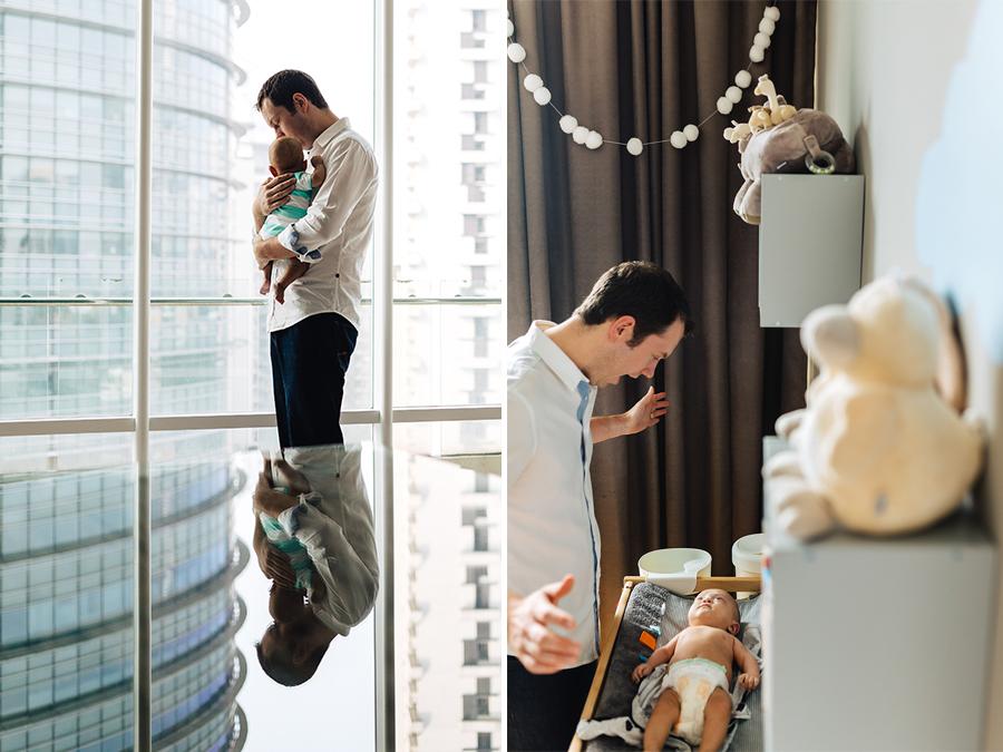 Séance photo lifestyle - papa et son bébé