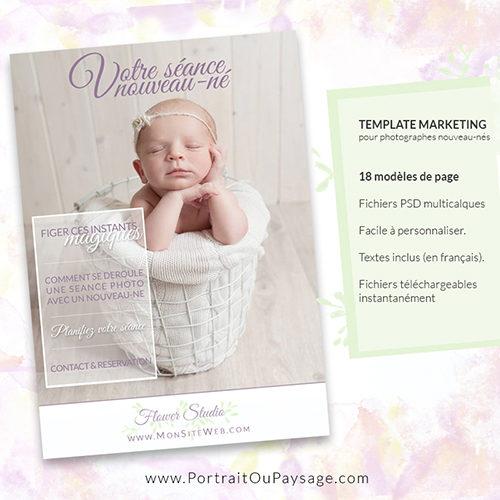 Modèle de plaquette photographe bébé