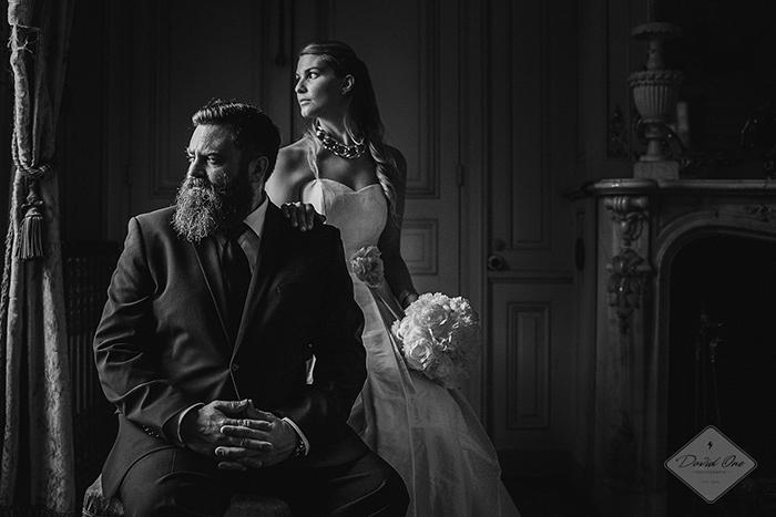 Photo de mariage en noir et blanc - par DavidOne Photographe