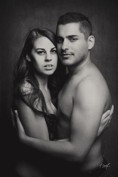 portrait de couple en studio