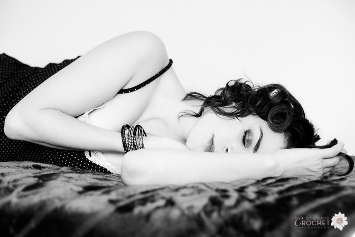 photographie boudoir noir et blanc