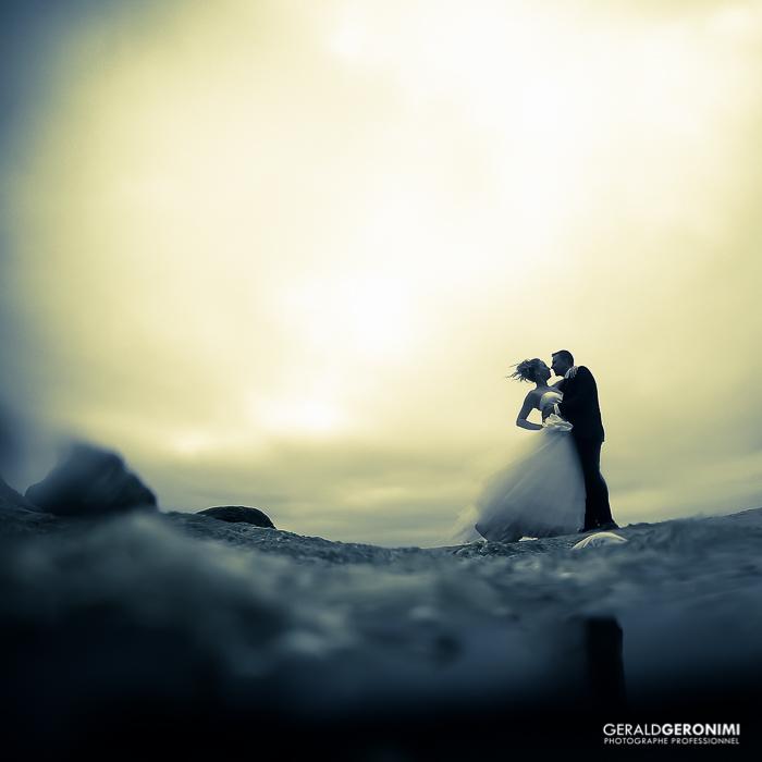 photo romantique de mariés - prise au Fujifilm XT1