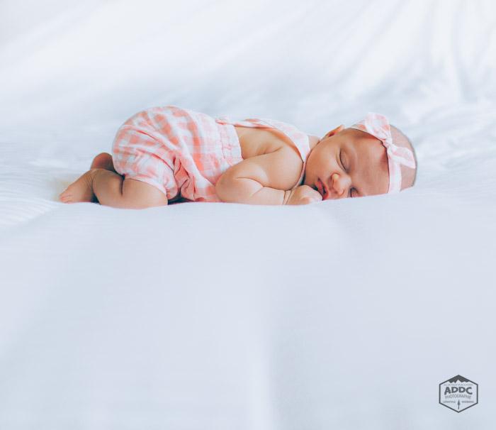 Portrait d'un bébé endormi
