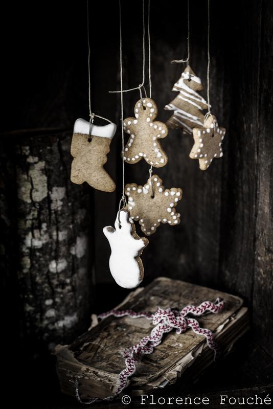 Photo artistique de biscuits de noël