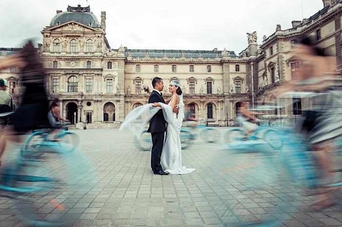 Photo de mariés à Paris, par Jacques Mateos