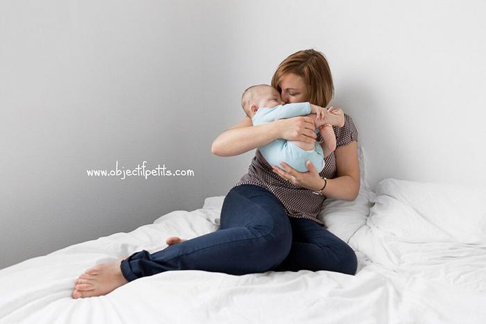 Portrait de famille : Un bébé et sa maman