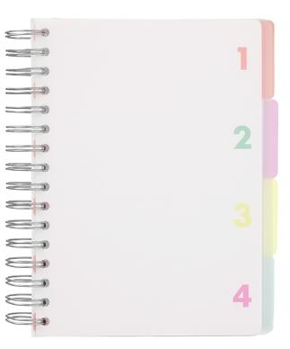 Un cahier de notes à spirale et divisé en 4 parties pour mieux s'organiser