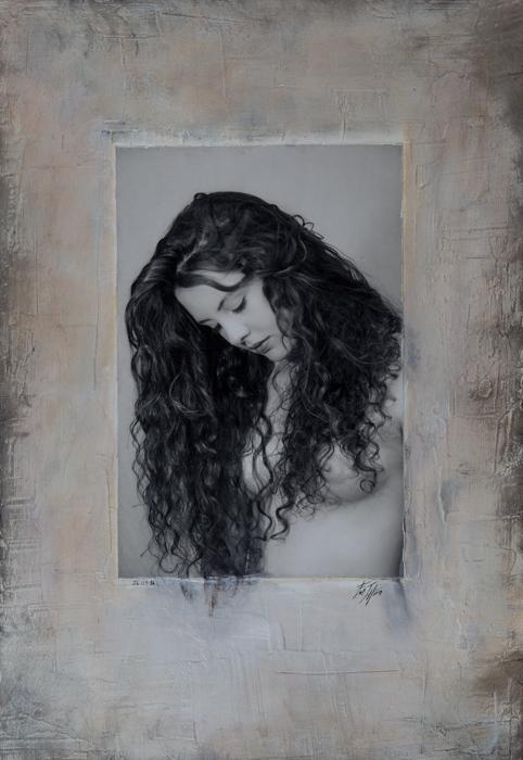 Portrait de femme - Tableau de photographe - par Hirn photographie