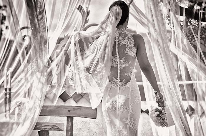 Mariée de dos par Félicia Sisco