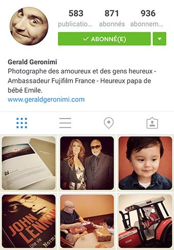 Flux Instagram de Gérald Géronimi