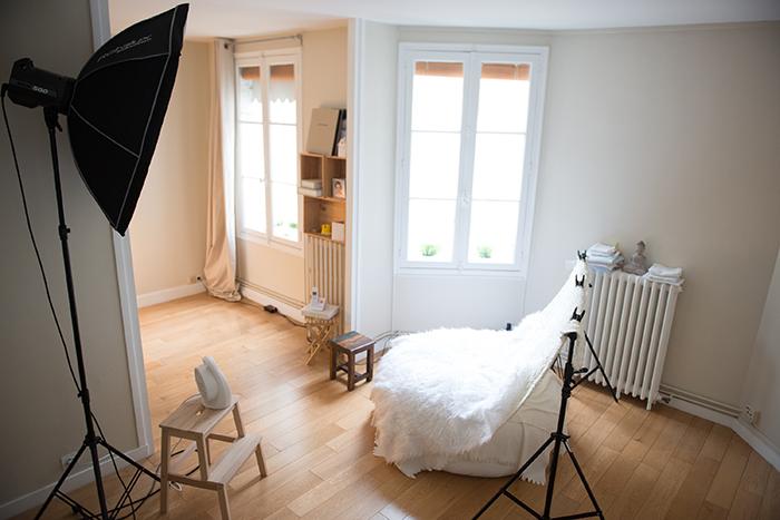 Le studio photo parisien de Candice Henin, pour accueillir petits et grands.
