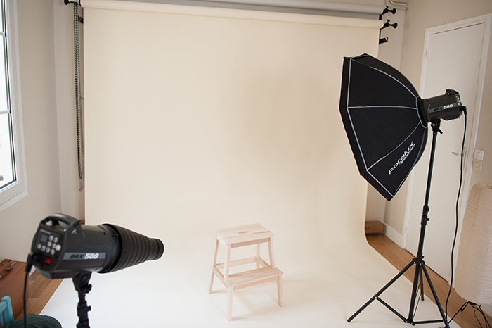 Le studio photo parisien de Candice Henin