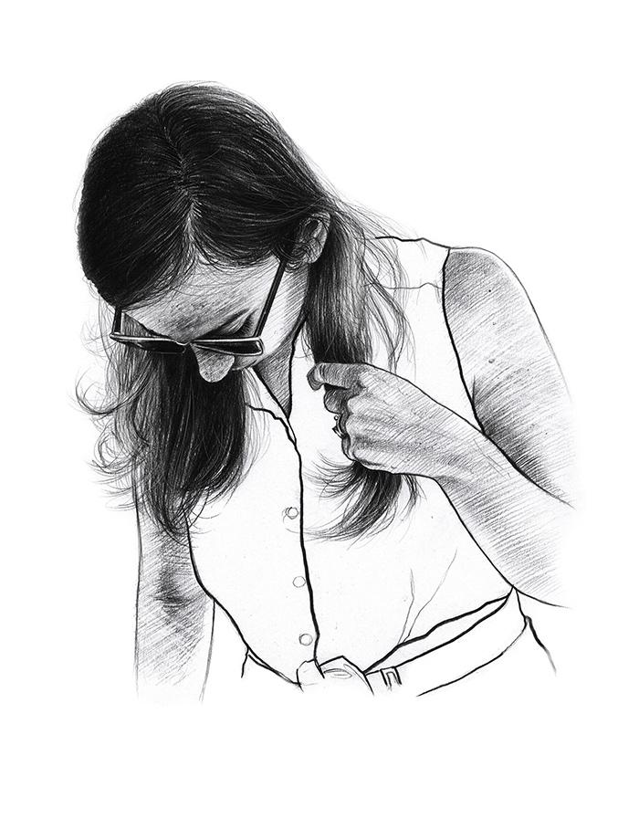 dessin au crayon - années 90