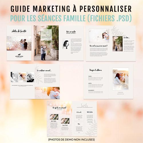 Modèle de template marketing à personnaliser (grâce à Photoshop). Idéal pour les séances photo en famille !
