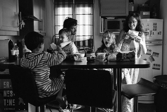 Photo du quotidien de : Ernestine et sa famille