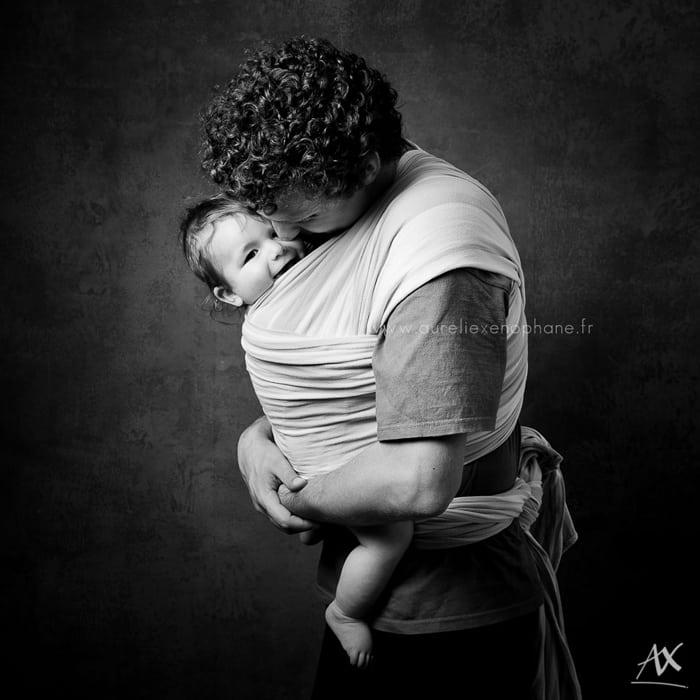 Un papa-porteur - Projet photo de Aurélie Xenophane