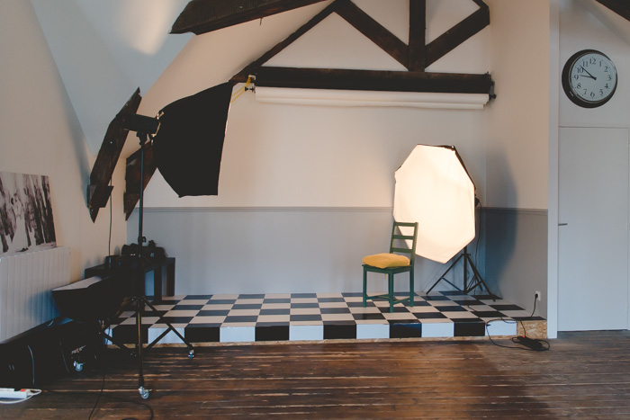 Un studio photo masculin et vintage, en Bretagne (France).