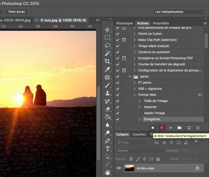 Créer un script pour automatiser des actions photoshop.