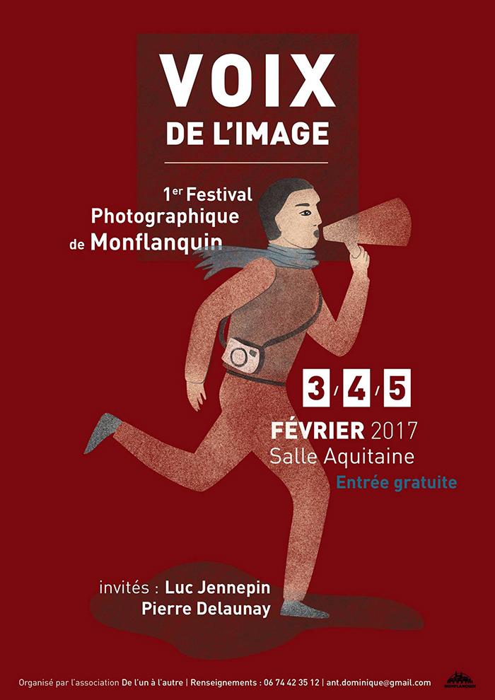Affiche du festival pour les photographes à Montflaquin : Voix de l'image