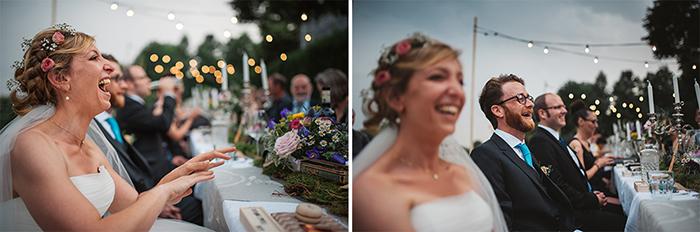 Photo de mariage par Mélanie Bultez : diptyque des mariés qui s'amusent et rient !