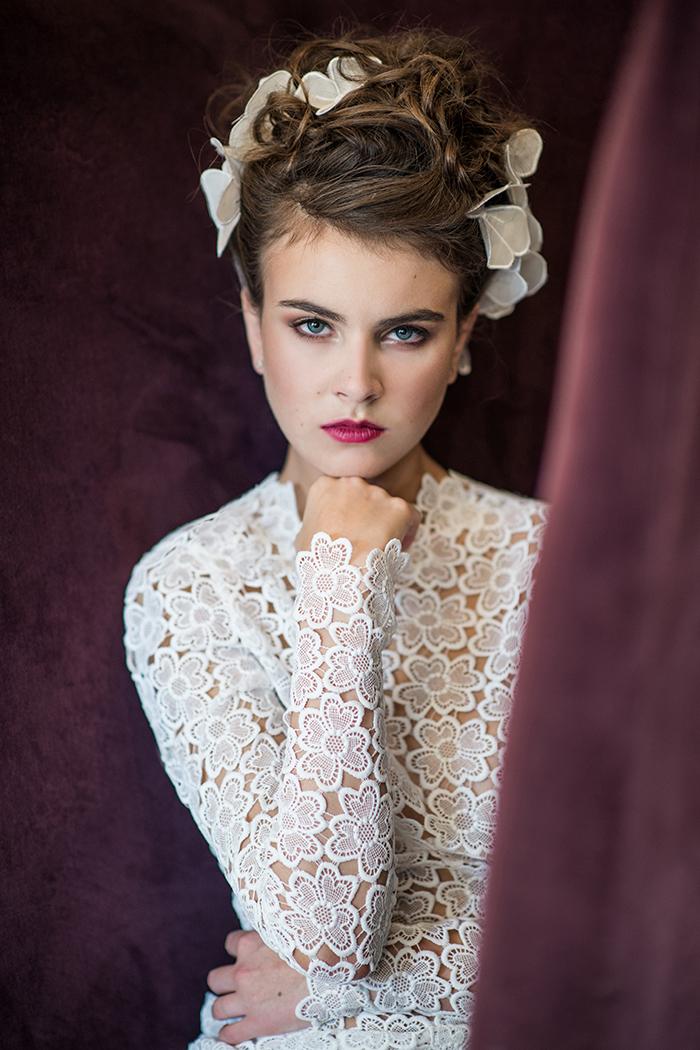 Photographie éditoriale pour un créateur de robe de mariée.