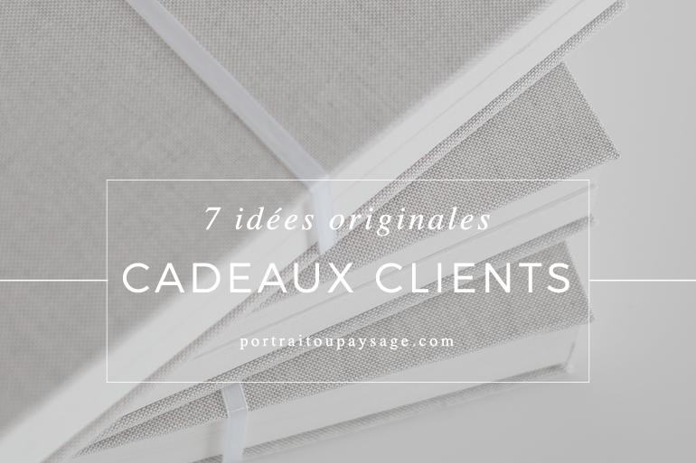 7 idées de cadeaux clients originales et personnalisables pour les photographes