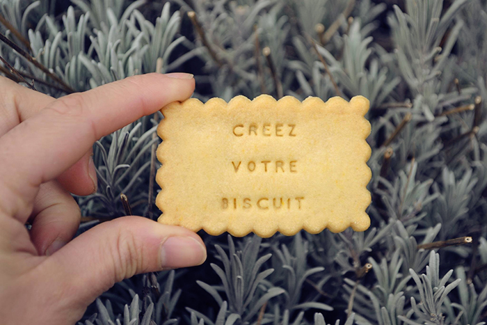 Biscuit personnalisé par Shanty Biscuit, made in France.