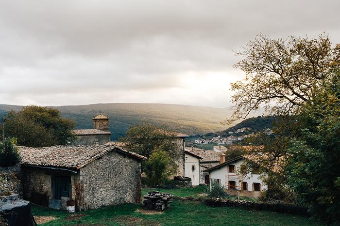 Paysage de voyage, le pays-basque.