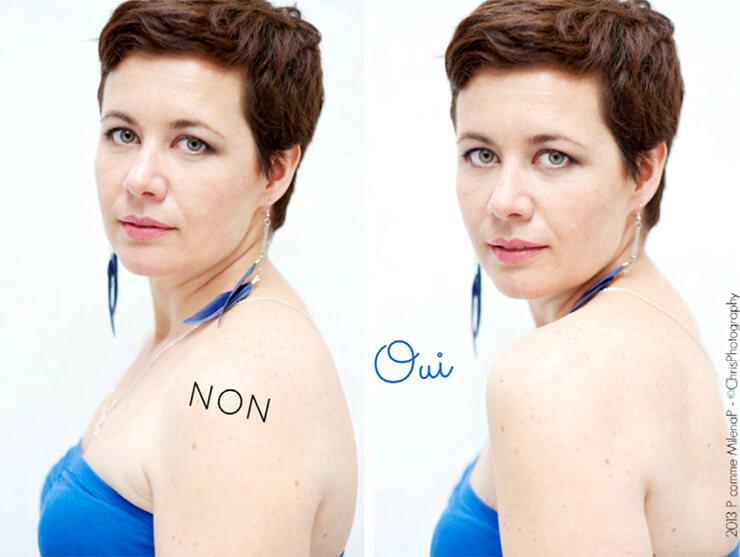 Portrait : utilisez la photo de profil pour mettre en avant la féminité, le port de tête et le regard de votre modèle.