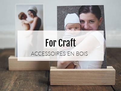 De jolis accessoires en bois pour poser vos tirages photo
