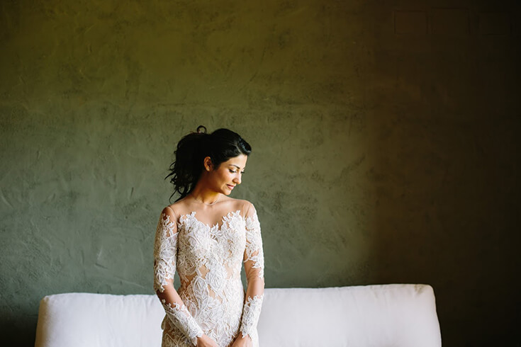 Photo de mariée, photo artistique de Malvina.
