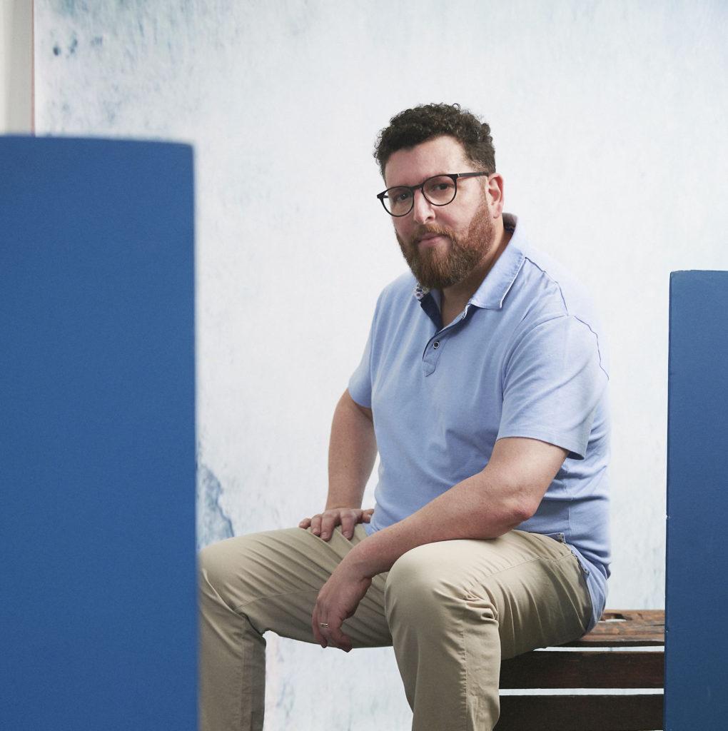 photographe, portrait, bleu, coaching motivation, business coach